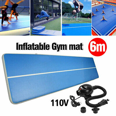 20FT Airtrack Inflatable Air Track Floor Home Gymnastics Tumbling Mat GYM 110V