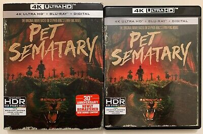 Pet Sematary 4K Ultra Hd Blu Ray 2 Disc Set + Slipcover Sleeve 30Th Anniversary