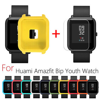 Soft Silicon With Screen Cover For Huami Amazfit Bip Youth Watch Case Protector