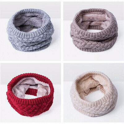 Women Winter Scarf Plus Thick Plus O-Scarf Neck Bufandas Warmer Knitted Ring