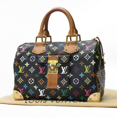 f0499defc536 Auth Louis Vuitton Speedy 30 Monogram Multicolor Hand Bag M92642 10117109