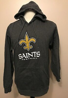 Nice NEW MENS NFL Majestic New Orleans Saints Charcoal Screen Printed