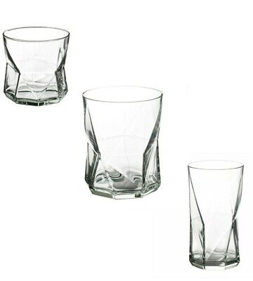 IKEA Planera Clear Glass Unique Glassware Drink Tumbler Water Juice Whisky Bar