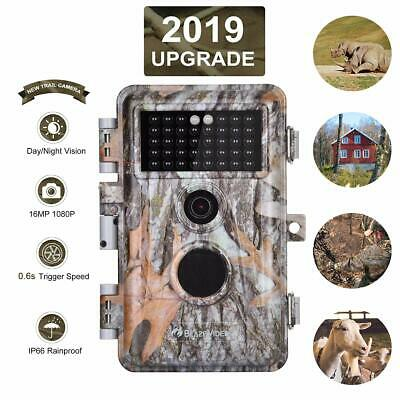 Game & Trail Hunting Camera 16MP 1080P Wildlife Cam No Glow Night Vision IP66