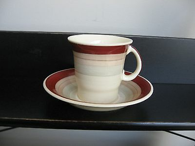 Vtg SUSIE COOPER CROWN WORKS BURSLEM DEMI CUP & SAUCER SET