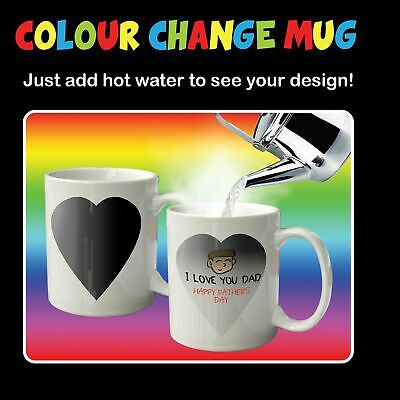 Personalised Design Your Own DIY Colour Changing Mug Tea Coffee Cup Fun Gift
