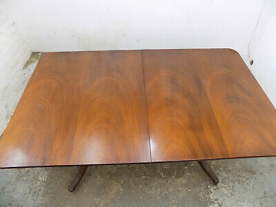 regency,style,extending,pedestal,dining table,paw feet,antique,repro,mahogany