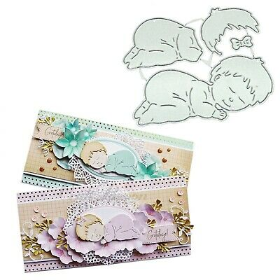 Sleeping Baby Stamp Metal Cutting Dies For Embossing Making Frame Craft Card New