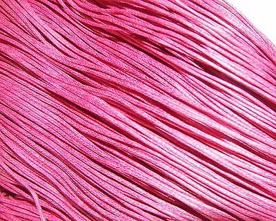 Pink waxed cotton cord/thong/string 1.5mm beading thread jewelry making findings