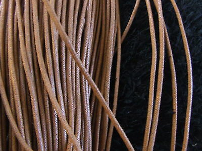 10 Metres 4 mm Copper Waxed Cotton Cord/Thong/Thread/Shoe Lace Quick UK Dispatch
