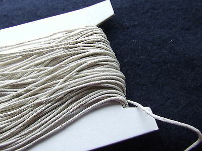 Lite Beige/Ivory waxed cotton cord/thong/string 1 mm *30 m*180 y Jewellry Making