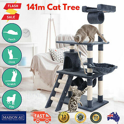 Large Cat Kitten Scratching Post Tree House Tower Ladder Play Centre Furniture