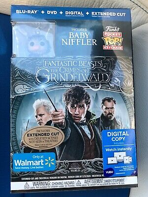 New Fantastic Beasts The Crimes Of Grindelwald Blu Ray, Dvd + Pop Baby Niffler