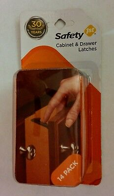 Safety 1st Cabinet & Drawer Latches 14-Pack - Dorel Juvenile - Part #HS204
