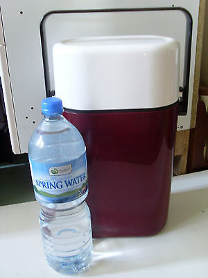 1980s INSULATED DECOR BYO 2 BOTTLE /CAN CHILLER * MAROON & WHITE* MANLY BBQ