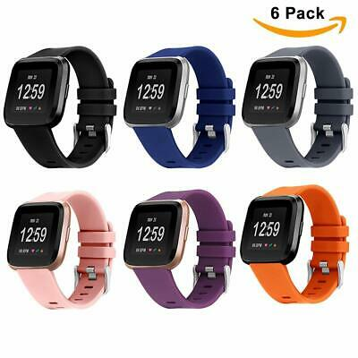 6X Fitbit Versa Replacement Strap Soft Silicone Sport Watch Band Smart Bracelet