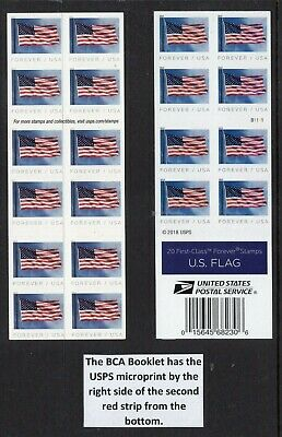 US 2019 NEW 5345a Flag Booklet of 20 BCA Banknote Corporation-Free USA Ship