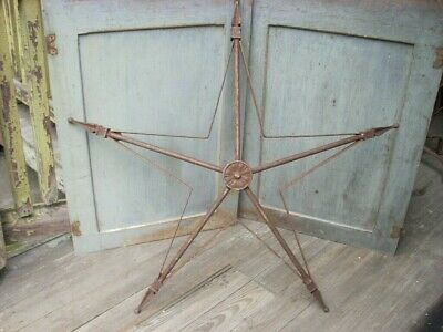 "Antique Vintage Cast Iron STAR Xmas Barn Garden Architectural Large 31"" x 29"""