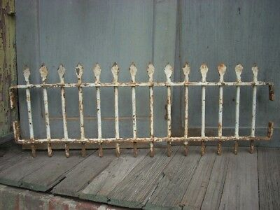 "Antique Cast Iron Fence Window Gate Garden Architectural Hardware 31"" x 11"""