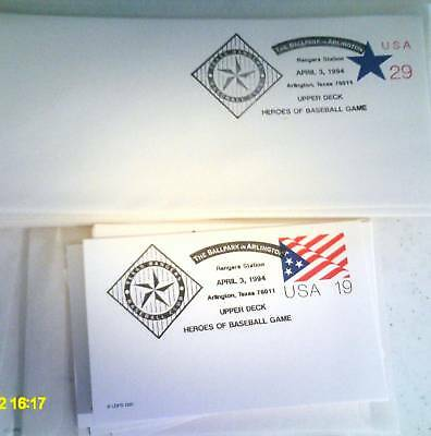 1994 Ballpark In Arlington Stamped Envelope 1Stgame 60Total  Texas Rangers