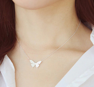 Women Enchanted Gold Butterfly Necklace and Silver Plated | Trendy 2019