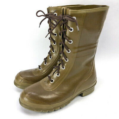 VINTAGE CONVERSE INSULATED Army Green Rubber Boots Mens Size