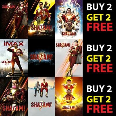 DC COMICS SHAZAM! SUPERHERO MOVIE SHAZAM A4/A3 300gsm Poster Wall Deco Print