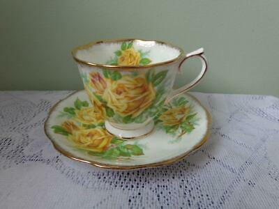 Royal Albert Bone China Yellow Tea Rose Hampton Style Cup & Saucer