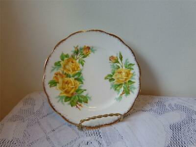 "Royal Albert Bone China Yellow Tea Rose 6-1/4"" Side Plate"