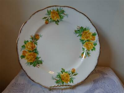 "Royal Albert Bone China Yellow Tea Rose 10-1/4"" Dinner Plate"