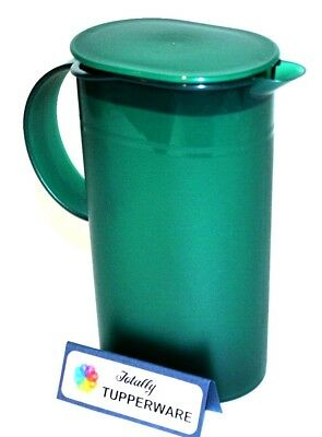 Tupperware Mini Serving Pitcher 16 oz. Coffee Creamer Keeper Hunter Green 3535