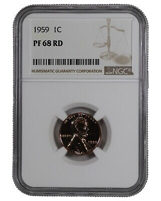 1959 Lincoln Memorial Penny 1C Ngc Cert Pf 68 Rd Proof Red Uncirculated (040)