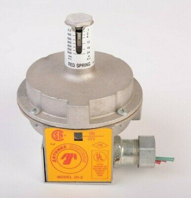 ANTUNES Controls JD-2 Air Pressure Switch, Red Spring