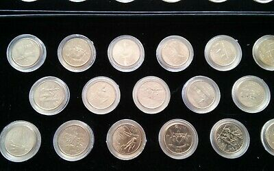 24K Gold Plated State Quarters 25 Coin Set w/COA & Box