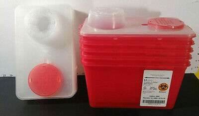 Covidien Sharps-A-Gator Sharp Container Chimney Top Small Red 4 Quart Biohazard