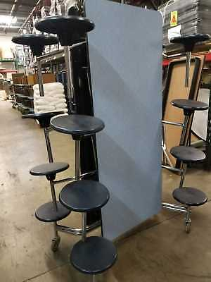 Wondrous Refurbished Cafeteria Folding Lunch Table W 16 Stool Machost Co Dining Chair Design Ideas Machostcouk