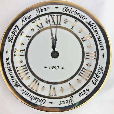 Royal Gallery Gold Buffet 1999 Celebrate Millennium New Year Clock Face Plate