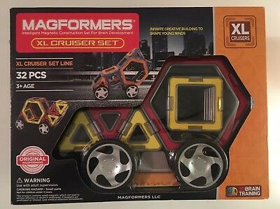 ❤️NEW - Magformers XL Cruisers Car Set (Red/Yellow) FREE SHIPPING!❤️