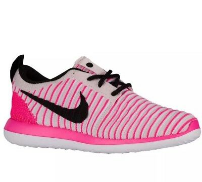 22a46043f6 NIKE Roshe Two 2 Flyknit 844620 600 Girls Youth Running Shoes Size  6.5Y=Women