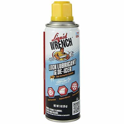 Liquid Wrench Key Lock Lubricant / De-Icer - 3 Oz Spray Can LLD03