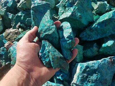 rough natural chrysocolla from sonora mexico ( by the pound )