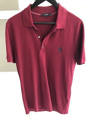 a214869f Elegant, refined, and authentic Gucci polo shirt in Gucci Red. Men size L