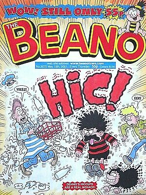 THE BEANO - 19th MAY 2001 (17 - 23 May) RARE 18th BIRTHDAY GIFT !! FINE+..topper