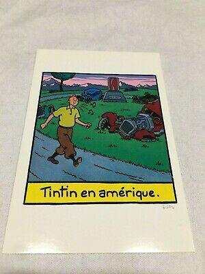 Carte Postale Tintin Hommage A Herge Influences