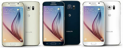 New Samsung Galaxy S6 G920A AT&T T-Mobile Unlocked 32GB Phone Blue White Gold