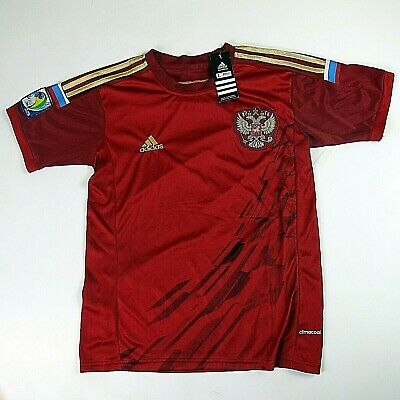 286bb7ebf Adidas 2014 Russia National Soccer Team FIFA World Cup Clima Jersey Mens L  New