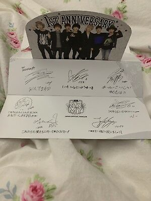 BTS JAPAN OFFICIAL FANCLUB 1st ANNIVERSARY Greeting Card FC Limited