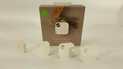 Tile Gen 2 (4-pack) Tracking Device - Finds your phone keys, anything! T1003 New