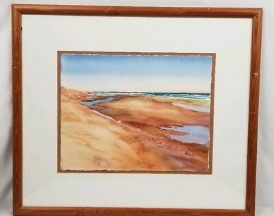 "Beautiful Original Landscape Watercolor Painting Signed HEIZEN 20""X17"""