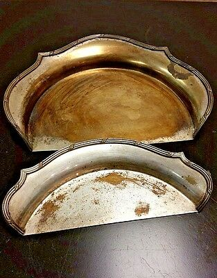 Sheffield Silver Plated Table Butler/Crumb Sweeper 2 Piece Set